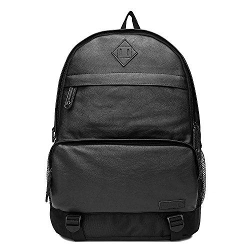 Zaino Pelle Uomo,Unives Vintage Laptop Grande Notebook Capienza Daypack Calcolatore Zaino in Forma Fino a 15 'Laptop in Viaggio per Affari Viaggiare Posto di Lavoro Collegio Sacchetto di Scuola