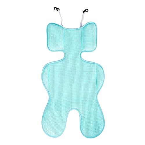 YJingMM Transpirable Colchoneta Silla Paseo Fresco para Bebé Inserto CóModo De CojíN para Cochecito,Asiento De Seguridad Colchoneta De Verano Blue