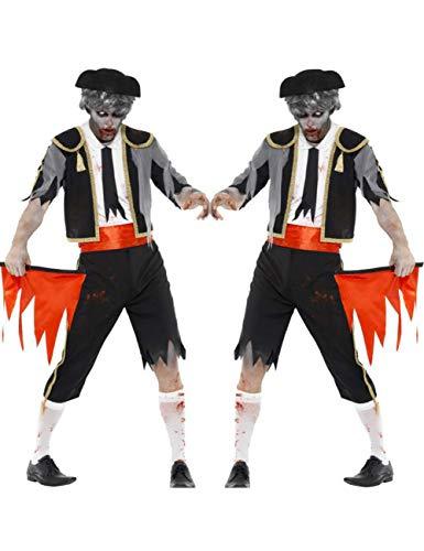 GBYAY Das Cosplay Erwachsene männliche Halloween-Teufelkostüm schreckliches schreckliches Kostüm Zombie kleidet Todesgeistkostüm
