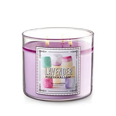 Bath and Body Works Lavender Marshmallow 3 Wick 14.5 oz Candle