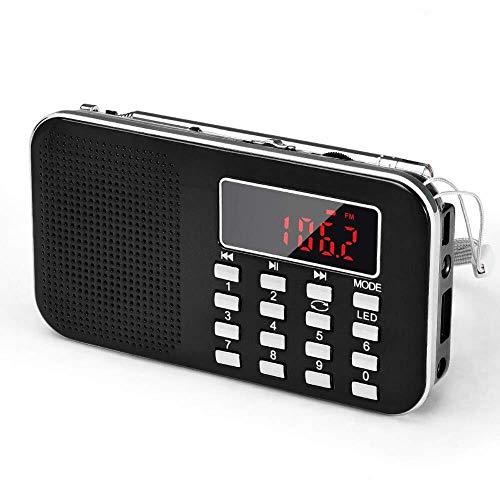 Tragbare Digitale AM FM-Radio und Kurzwellen-Radio MP3 SD 32G Nottaschenlampe Stereo-Lautsprecher (Color : A)
