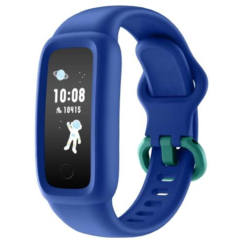 BIGGERFIVE Vigor 2 Fitness Armband Uhr für Kinder Mädchen Junge ab 5-12 Jahren, Fitness Tracker Smartwatch mit Schrittzähler Pulsuhr Kalorienzähler Schlafmonitor, IP68 Wasserdicht Aktivitätstracker