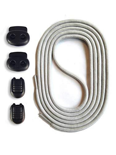 SNORS Schnürsystem - HELLGRAU, 120cm - elastische Schnürsenkel mit Schnellverschluß -