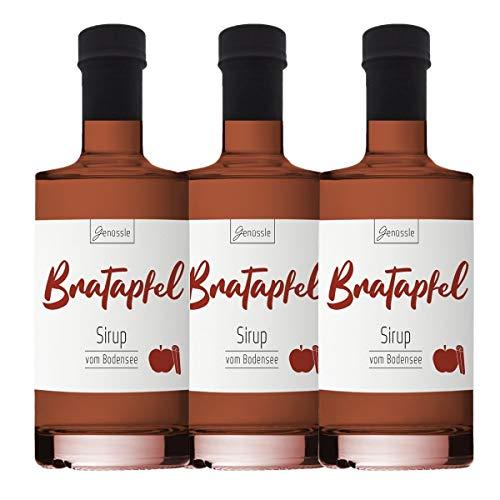 Bratapfel-Sirup 3x 350ml - Genüssle Apfelsirup vom Bodensee - Bratapfel Sirup - Äpfel vom Bodensee - natürlich ohne Zusatzstoffe