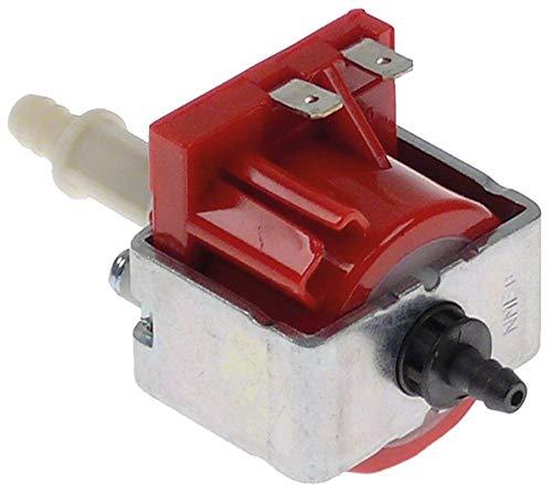 ULKA NME Typ 4 Vibrationspumpe für Kaffeemaschine Astoria-Cma DPiu-1, Prima 16W 230V Eingang ø 5mm Ausgang 6,5mm Länge 77mm