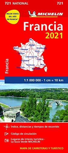 Mapa National Francia 2021 (Mapas National Michelin)