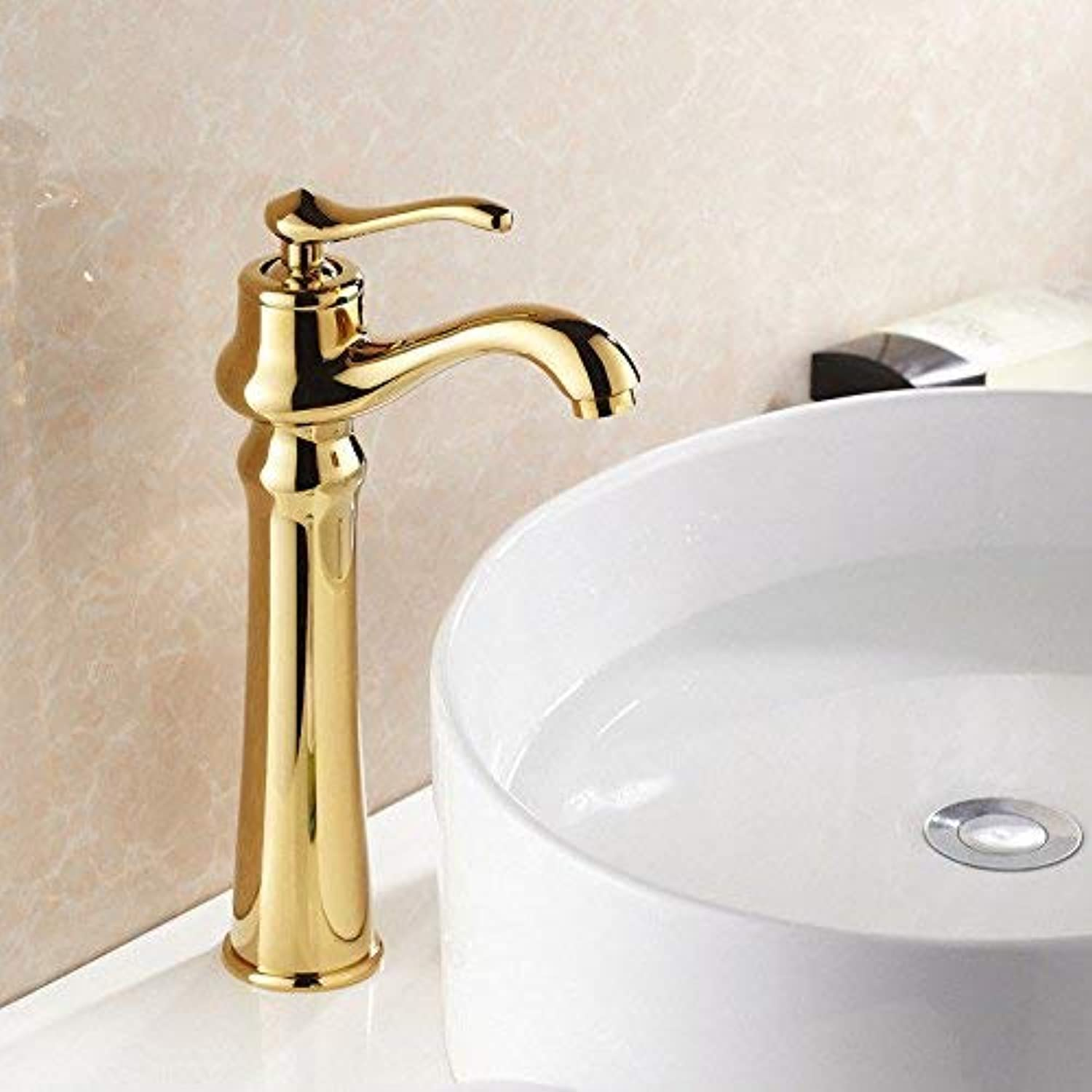 NANIH Home Sink Mixer Tap Bathroom Kitchen Basin Tap Leakproof Save Water Hot And Cold Kitchen gold Copper Plated Antique Mix