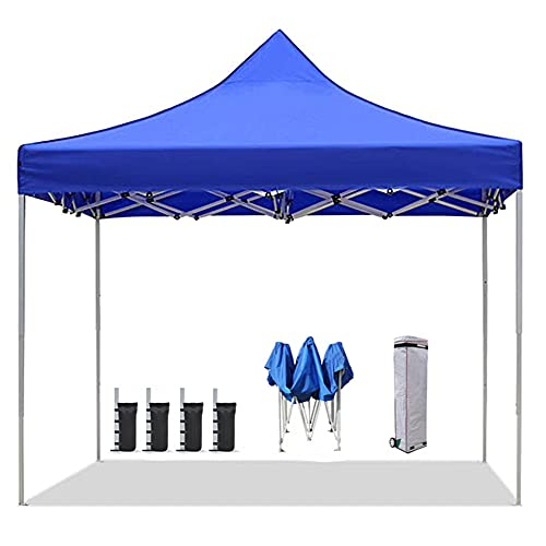 YBSY Gazebos Plegables de 3x3m / Carpa con Dosel emergente/Aluminio Ajustable en Altura portátil/Refugio Solar Anti-UV Totalmente Impermeable con Bolsa con Ruedas