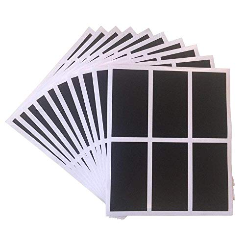 Mason Jars Labels, 60 Chalkboard Label Stickers - Canisters Labels - Chalk Makers Erasable