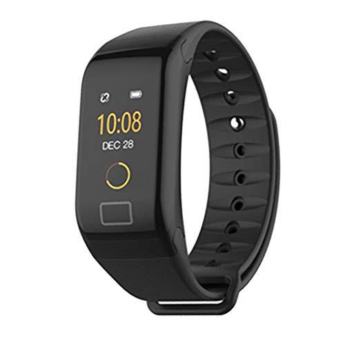 balikha Reloj Inteligente con Pantalla a Color con Rastreador de Ejercicios con Pulsera Bluetooth 4.0 - Negro