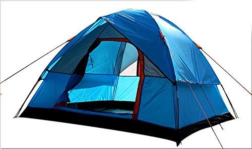 work out Peso Ligero Acampar Tienda Ideal para Practicar Senderismo y Actividades al Aire Libre Tienda de campaña portátil-Azul
