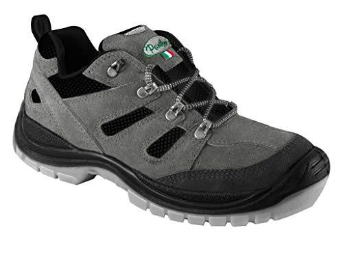 Panther Woody Low Grey 2728305LA S1P SRC - Zapatillas de seguridad impermeables para hombre