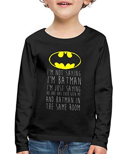 DC Comics Citation Batman T-Shirt Manches Longues Premium En