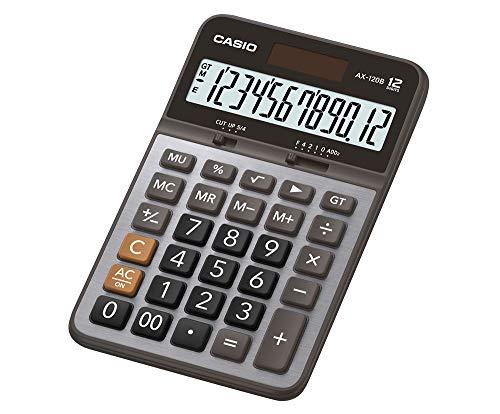Calculadora Compacta de Mesa 12 Dígitos, Casio, AX-120B, Grafite