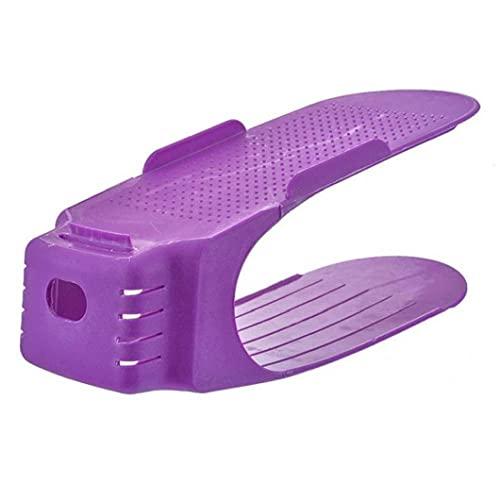 Zapato Soporte Ajustable Doble De Zapatos De Almacenamiento En Rack Sala Conveniente Caja De Zapatos Zapatilla De Deporte Organizar Estante Azul
