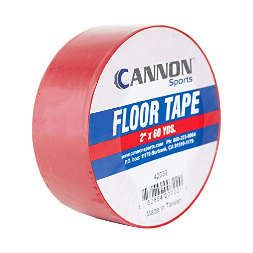 pro tapes chalk paints Cannon Sports Floor Marking Tape for Gymnastics, Grappling, Wrestling and Fitness Training (2 inch, Red)