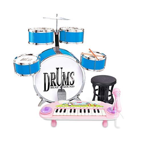 HXGL-trommel kinderen drum speelgoed muziekinstrument beginners praktijk Jazz Drum Boy Girl 3-6 jaar oud