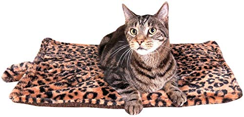 Thermal Cat Pet Dog Warming Bed Mat (Beige, Regular)