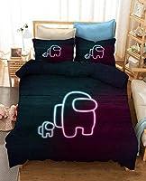 2/3ピースAM-ONG US 3Dプリント羽毛布団カバーセットゲーム子供男の子女の子10代の若者たちのための寝具カバーセット(1duvetカバー1/2枕カバー) (Color : C, Size : EU-Single 135x200cm)