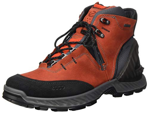 ECCO EXOHIKEM, High Rise Hiking Boots Men's, Red (BLACK/FIRE 57480), 8.5...