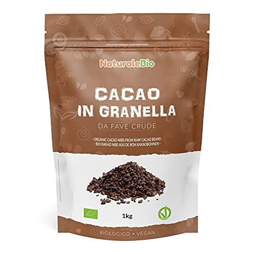 Roh Kakao Nibs Bio 1Kg. Organic Raw Cacao Nibs. 100 {f3feeff8b2813ef637c0ac6352c1c13c8668dfa0b07268185f70c9905d7d9198} Rohkost, natürlich und rein. Produziert in Peru aus der Theobroma Cocoa Pflanze. Quelle für Magnesium, Kalium und Eisen.