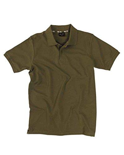 Mil-Tec Poloshirt Pikee 250Gr.Co.Oliv Gr.L