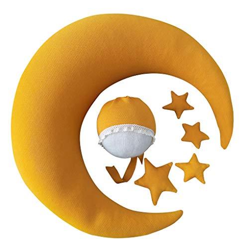 rongweiwang Almohada bebé Estrella de la Luna Infantil Almohada Sombrero Apoyo de la fotografía del recién Nacido de Disparo Almohada recién Nacido Sombrero de Disparo del Ornamento, Tipo 15