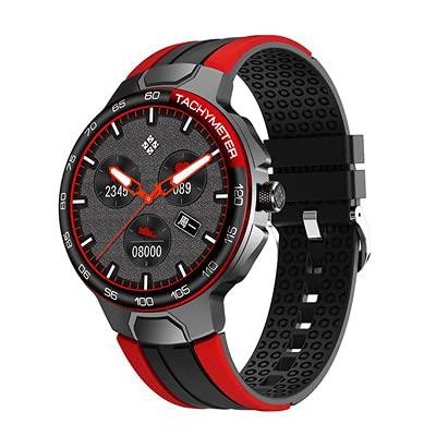 YZK Smart Watch Men's Sports Watch IP68 Impermeable GPS Seguimiento de la frecuencia cardíaca Tiempo Smartwatch,B