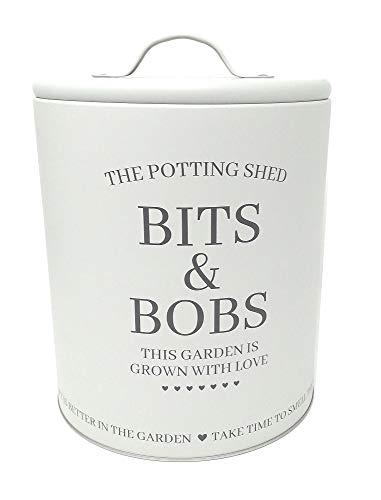 Potting Shed The Bits & Bobs Storage Tin Large - 219mm x 167mm (White)