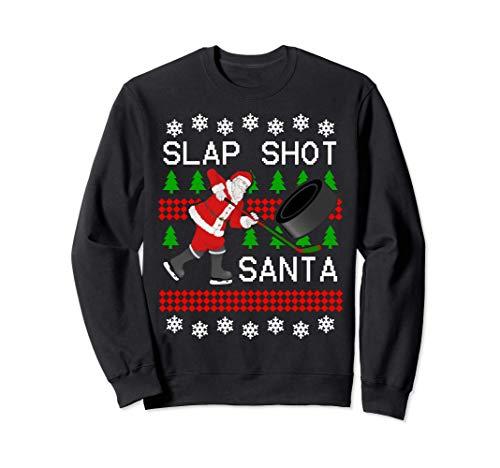 Fête de Noël de bureau de cadeau de Noël de hockey du père Sweatshirt