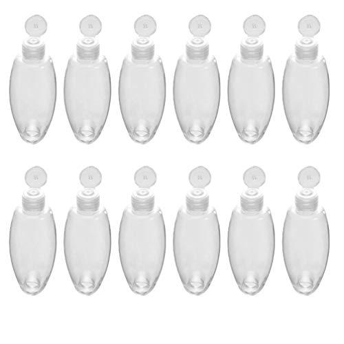 Cabilock 12 Pcs Vide Squeeze Bouteilles en Plastique Parfum Liquide Conteneur Voyage Articles de Toilette Shampooing Comestics Lotion Bouteilles Distributeur avec Crochet pour Cuisine Bain