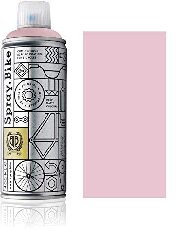 Fahrrad Lackspray in versch. Farben - Keine GRUNDIERUNG notwendig - Acryllack/Lack Spray in 400 ml Spraydose, Matt- und Klarlack Optik möglich (Rosa Superbe, Matt)
