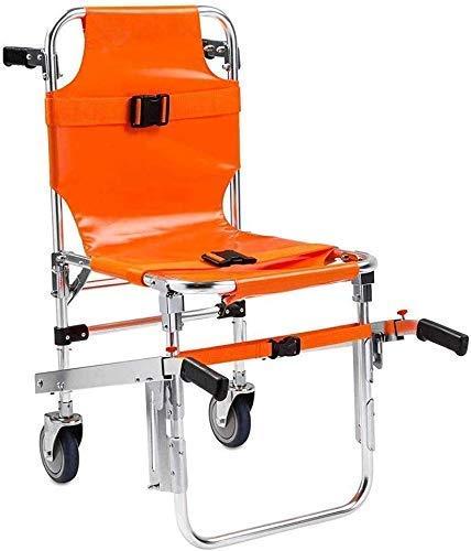 H&1 Silla de Ruedas eléctrica n Elevador de evacuación de Escalada para Silla de Ambulancia Plegable Ligera de Aluminio con Hebillas de liberación rápida