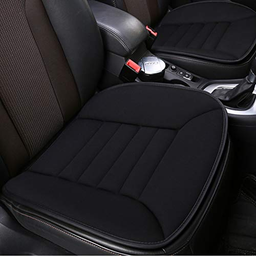 Car Seat Cushion Heightening Height Boost Mat Portable Breathable Mesh Used All The Year Car Seat Pad Ideal For Car Office,Home Black
