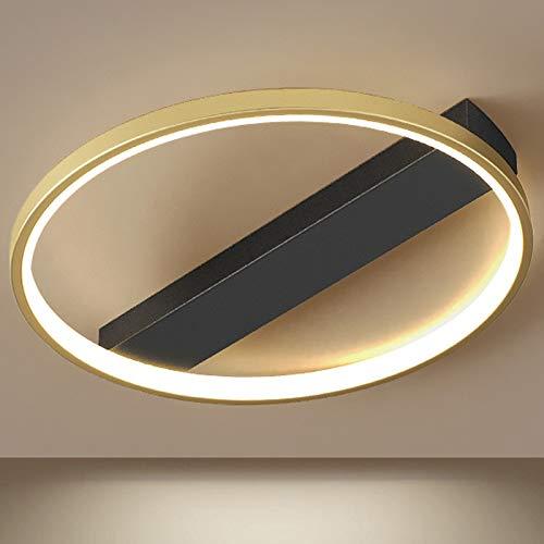 Focos de techo LED para dormitorio Regulable con control remoto dorado Habitación para niños Sala de estar Lámpara de techo Cocinas Comedor Villa Mesa de comedor Hotel Café Iluminación de techo 45cm,C