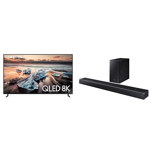"Samsung 55"" Class 8K Ultra HD (2160P) HDR Smart QLED TV QN55Q900R (2019 Model) with Harman Kardon HW-Q80R Dolby Atmos Q80R Series Soundbar"