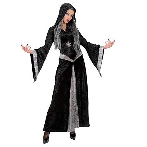 Widmann 72642 Kostüm Zauberin, Damen, Schwarz/Grau, M