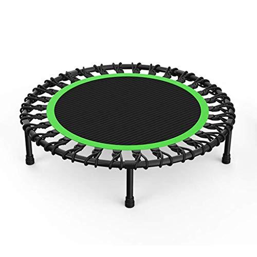 JHUEN Fitness Trampoline, Ejercicio trampolín para Adultos o niños, Bungee Rebounder Trampoline para Gimnasio/hogar, MAX.Carga 150kg con Base de succión en Verde
