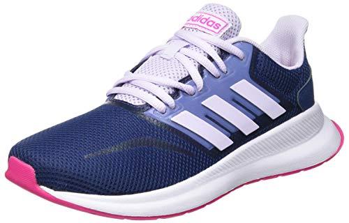 adidas Unisex-Kinder Runfalcon Road Laufschuhe, Mehrfarbig (Tech Indigo/Shock Pink/Purple Tint), 38 EU