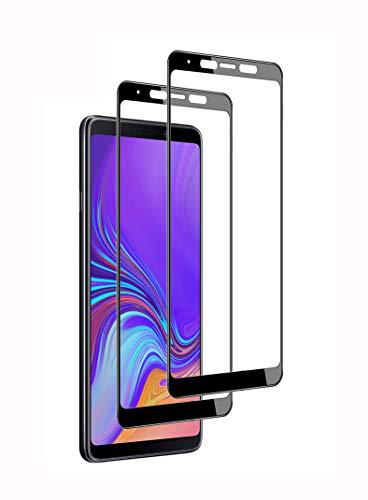 WEOFUN 3D Panzerglasfolie für Samsung A9 2018 [2 Stück] ,Panzerglas für Samsung A9 2018 [ 9H Festigkeit Bildschirmschutz, Anti-Kratzen, Anti-Öl, Anti-Bläschen ] - Schwarz