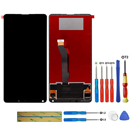 SWARK Display LCD compatibile con Xiaomi Mi Mix 2S M1803D5XA nero (senza telaio) Display LCD Touchscreen Digitizer Assembly Glas + Tools
