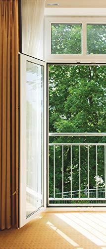 Sticker décoration de porte, Open window 90 cm x 210 cm
