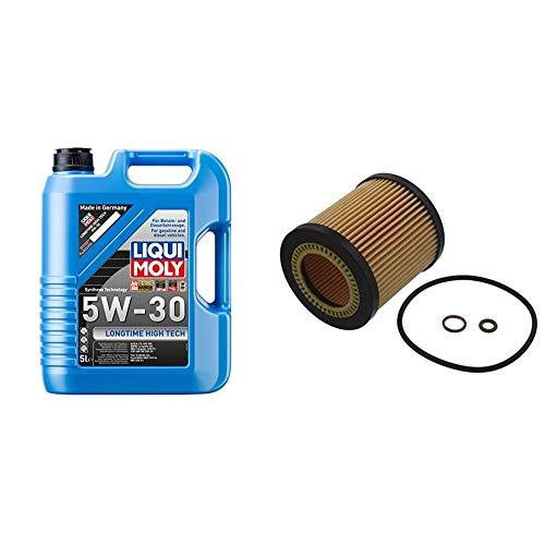 LIQUI MOLY 1137 Longtime High Tech Motoröl, 5W-30, 5 L & febi bilstein 36628 Ölfilter mit Dichtringen, 1 Stück