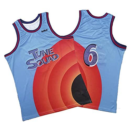 QJL James Basketball Jerseys, Slam Dunk # 6 Bordado de Hip Hop Sports Use Tela Transpirable Unisex Swingman Sin Mangas Vest (S-2XL) blue1-XXL