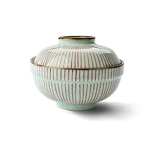 LI MING SHOP-Müslischale L-H Keramik-Schale Mit Deckel, Instant-Nudeln/Suppe/Gedämpft Ei 6 Zoll Kreative Porzellanschale 250/300/500 Ml, Mikrowelle Hotelhaushaltsgeschirr (Size : 15x7cm)