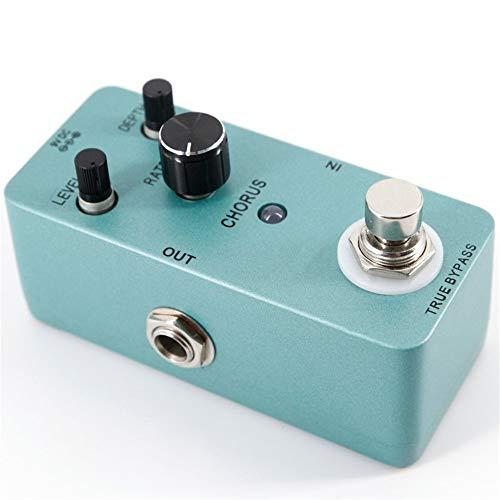 ZDAMN Gitaar-effectprocessor E-gitaar-effectpedaal E-gitaar-chorus-effectpedaal Full Metal Shell True Bypass met instelbare regelaars voor niveau, frequentie en diepte gitaartuning-accessoires