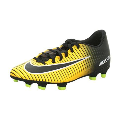 Nike Mercurial Vortex III FG, Scarpe per Allenamento Calcio Uomo, Arancione (Laser Orange/Black/White/Volt/White), 42 EU