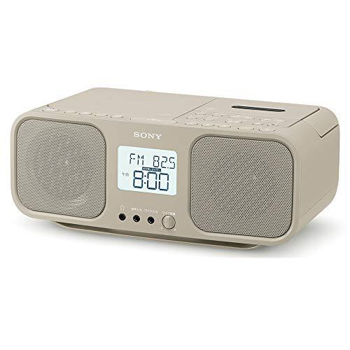 ソニー CDラジオカセットレコーダー CFD-S401 : FM/AM/ワイドFM対応 大型液晶/カラオケ機能搭載 電池駆動可能 ベージュ CFD-S401 TI