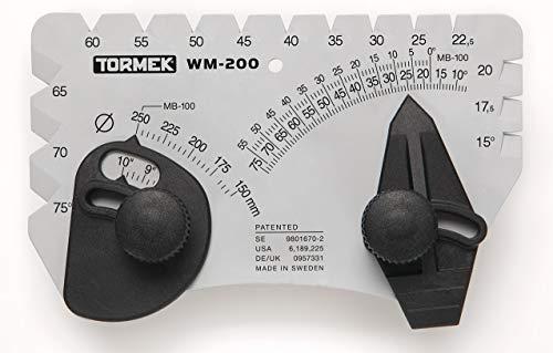 Winkelsatz für Schärfsystem Tormek WM-200 Winkelmaster Setzt den perfekten Winkel zum Schärfen von Klingen. Funktioniert auf Tormek Schärfsystemen.