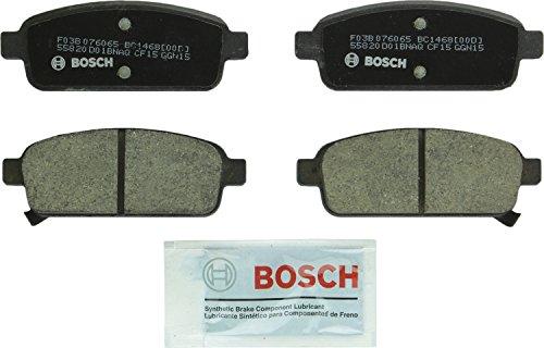 Bosch BC1468 QuietCast Premium Ceramic Disc Brake Pad Set For Select Buick Cascada, Encore, Verano; Cadillac ELR; Chevrolet Cruze, Cruze Limited, Orlando, Sonic, Trax, Volt; Rear